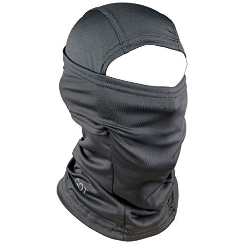 GOT Sports Balaclava Face Mask - UPF 50+, Breathable, Windproof - Perfect for Skiing, Snowboarding, Motorcycling - Multifunctional Use for Winter & Summer Sports (Dark Gray) (Diamond Tactical Full Face Protection Ghost Balaclava Mask)