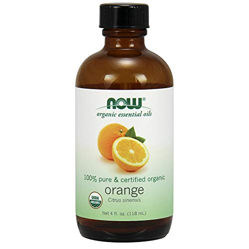 Now Essential Oils, Organic Orange Oil, Uplifting Aromatherapy Scent, Cold Pressed, 100% Pure, Vegan, 4-Ounce
