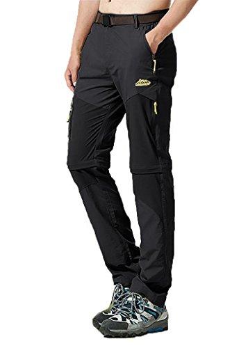 BIYLACLESEN Men's Outdoor Quick Dry Lightweight Convertible Pants Zipper Pockets Cargo Shorts