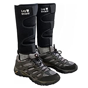 Neoprene Leg Gaiters Unique Hook and Loop Fastener Design for Easy On/Off For Outdoors, Hiking, Hunting, Biking, and General Shin/Calf/Skin Protection Windproof, Water Resistant, Snug Fit (Pair)