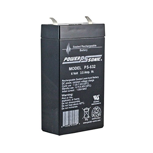 6 Volt 3.2 Ah Sealed Lead Acid Rechargeable Battery - F1 Terminal