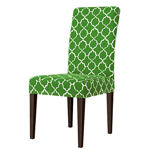 subrtex Printed Slipcovers Stretch Removable Washable Elastic Parsons Chair Seat Covers for Dining Room Kitchen (2,Grass…