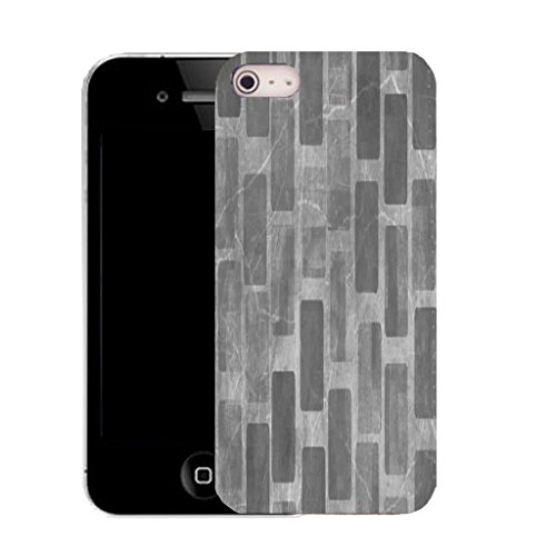 Mobile Case Mate IPhone 5S clip on Silicone Coque couverture case cover Pare-chocs + STYLET - black wall pattern (SILICON)