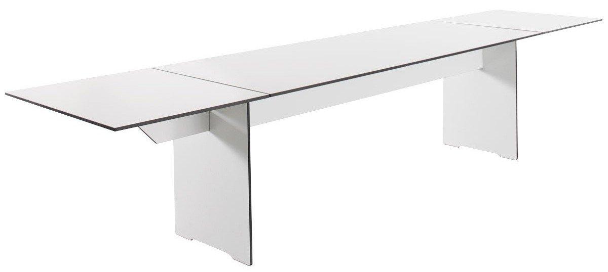 Conmoto Riva - Klapptisch M / 200 weiss - 200-340 cm - aus wetterfestem HPL - Outdoortisch - Terrassentisch