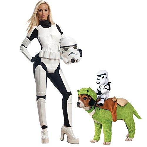 Star Wars Adult Female Stormtrooper Small Costume Bundle (Stormtrooper Female Costume)
