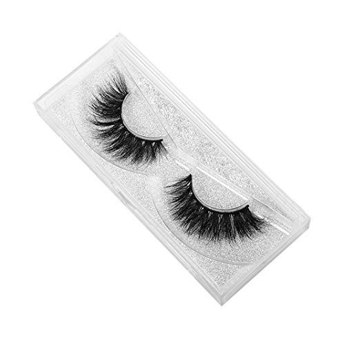 NewKelly 1 Pair Crisscross 3D False Eyelashes Long Thick Natural Fake Eye Lashes