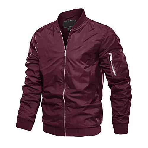 MAGCOMSEN Men's Jacket Lightweight Windbreaker Bomber Jacket Spring Fall Casual Coat Outwear