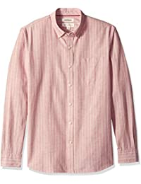 Men's Standard-fit Long-Sleeve Stripe Chambray Shirt
