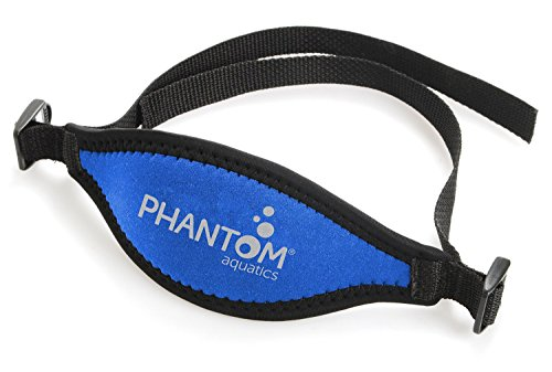 Phantom Aquatics Scuba Snorkeling Adjustable Neoprene Mask Strap, Blue