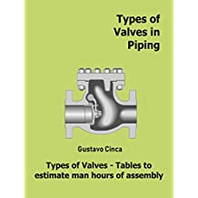 Types of Valves in Piping: Types of Valves - Tables to estimate man hours of assembly