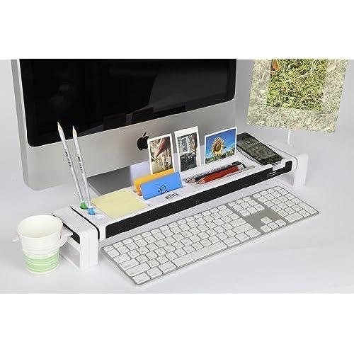 Cyanics IStick Desktop Organizer Computer Desk Accessories 3 Port USB Hub  Cup Holder Card Reader Letter Opener Paper Holder Storage Space For  Stationery ...