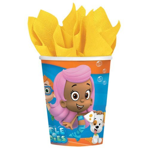 Bubble Guppies 9 oz cups - Birthday and Theme Party Supplies - 8 per Pack by SmileMakers