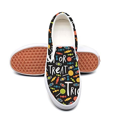 Sernfinjdr Women's Halloween Candy Trick or Treat Fashion Casual Casual Fashion Canvas Slip on Shoes Sports Cycling Sneaker Shoes B07H5HKS94 Shoes c9788a