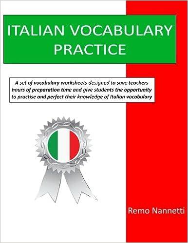 Amazon.com: Italian Vocabulary Practice (9781533233790): Remo ...