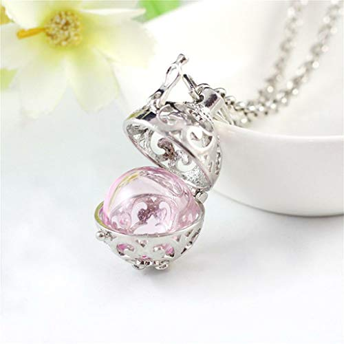 Perfume Diffuser Oil Sweater Necklace Open Long Chain Pendant Sweater Necklace Jewelry Crafting Key Chain Bracelet Pendants Accessories Best| Color - Pink