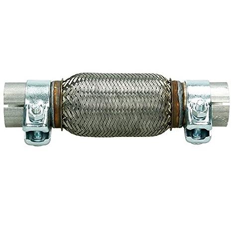 60x150 Flexrohr Flexstück mit Rohrstücken Montage ohne Schweißen Auspuff Rohr
