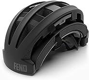 FEND One Foldable Bike Helmet - Adult Mens and Womens Bike Helmet - Safety Certified for Bicycle Road Bike Sco