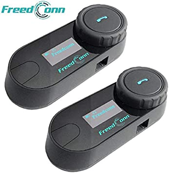 LCD Screen//FM Radio//Mobile phone//MP3//GPS connective//Range 800m 1 Pack for 2 or 3 riders Motorcycle Helmet Bluetooth Intercom Kit FreedConn TCOM-SC Motorbike Helmet Intercom Interphone Headset