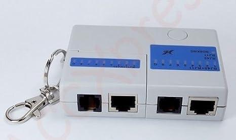US Mini Network Ethernet Tester Lan Cable Test RJ45 Rj11 Cat5 Tester Pocket Size