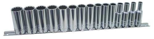 K-Tool International KTI-27401 Deep Metric Socket Set - 15 Piece from K-Tool International
