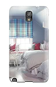 Protective Hard For SamSung Galaxy S6 Case Cover - Nice - Kids8217 Attic Bedroom With Blue Walls And Plaid Curtains