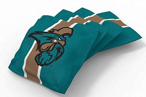 PROLINE 6x6 NCAA College Coastal Carolina Chanticleers Cornhole Bean Bags - Stripe Design (B) - Beans Coastal