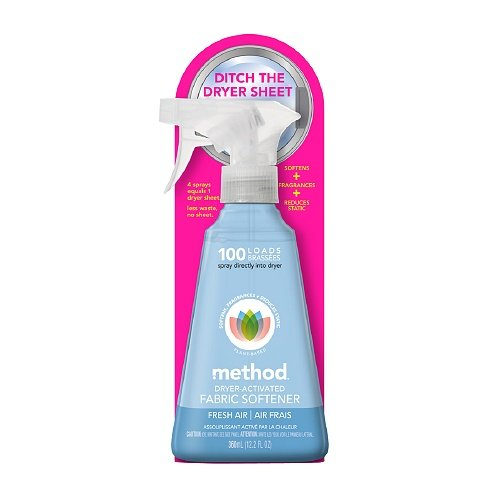 method 100 Loads Dryer Activated Fabric Softener Fresh Air 12.2 Fl Oz -Pack of 3 by Method