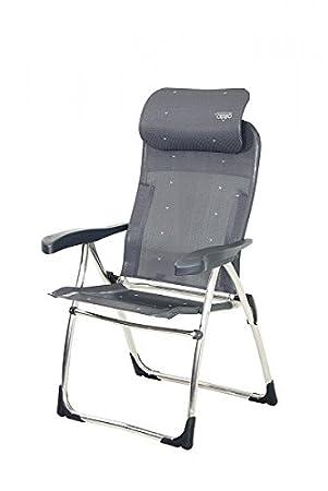 Super ligero - Silla plegable Crespo Compact Antracita - de aluminio ...