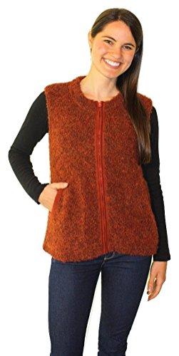 Alpine Vest (Tabask Women's Boucle Alpine Zipped Vest Medium Rosewood)