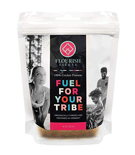 Flourish Farms Superhuman Fuel Cricket High Protein Powder/Flour- Healthy Additive to Any Meal. Protein, Calcium, Potassium, Iron and B12 Additive. for Human Consumption 8 OZ Review