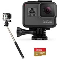 GoPro HERO6 Black - Bundle with 32GB SDHC Card, and Selfie Stick