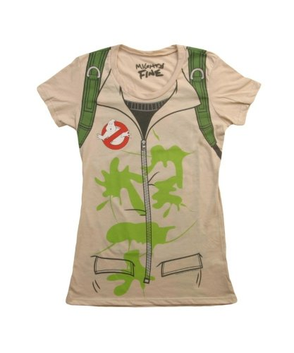 Mighty Fine Womens Ghostbusters Costume T-Shirt -