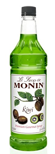 Monin Flavored Syrup, Kiwi, 33.8-Ounce Plastic Bottle ( 1 liter)