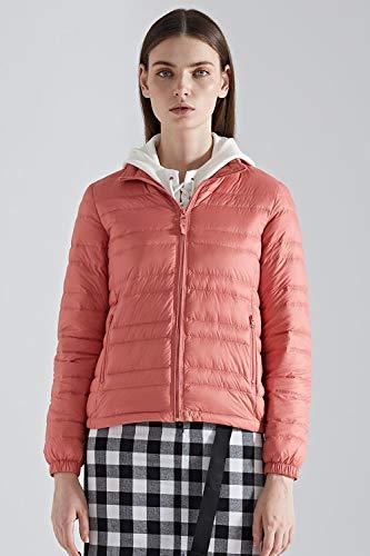 Cuello Chaqueta Pink Ultraligero Abrigo Puffer Slim Mujeres Bmeigo Abajo Soporte Fit Tops Corta Invierno Cremallera Tgq4wnzwEx