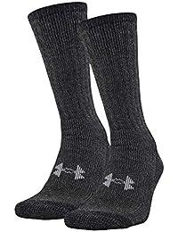under armour ColdGear calcetines para botas (2pares), Negro, Mediano