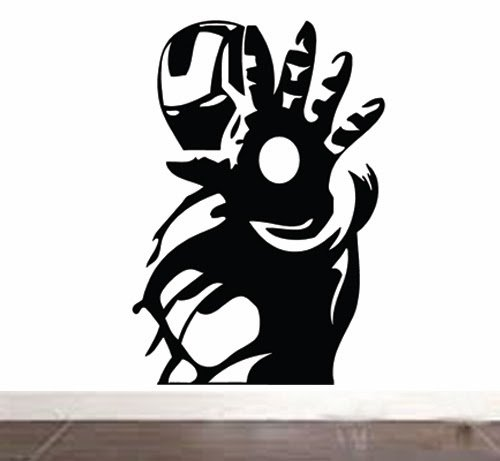 Iron man wall sticker vinyl decal amazon co uk kitchen home