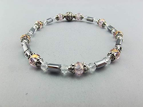 Stretch Bracelet - Light Pink & Clear