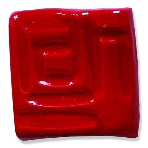 Speedball Stoneware Glaze (Speedball 002003 Stoneware Glaze, Red, 16 oz)