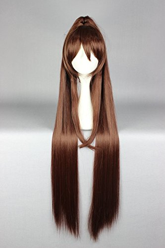 springcos Kantai Collection Yamato 110cm Straight Ponytail Hair Wig Brown (Brown Ponytail Wig)
