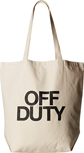 Dogeared Unisex Off Duty Super Tote Black/canvas Tote T20035