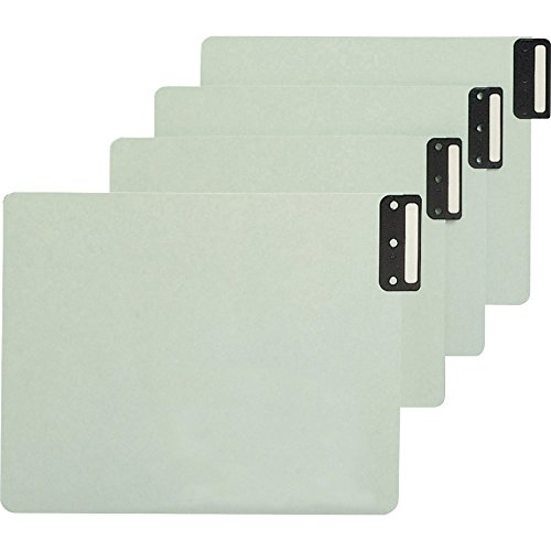 Smead 100% Recycled End Tab Pressboard File Guides, Vertical Metal Tab, Extra Wide Letter Size, Gray/Green, 50 per Box (61635) ()
