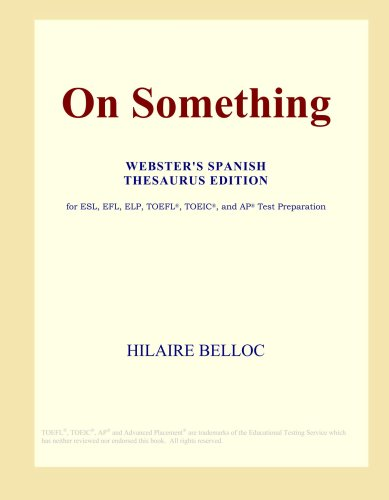 Download On Something (Webster's Spanish Thesaurus Edition) pdf