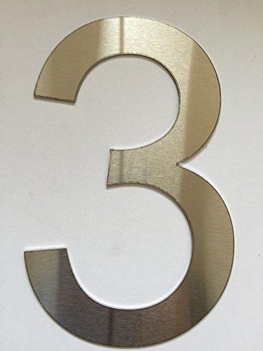 Número Casa / Números y abc numeral cepillado Acero inoxidable (3)