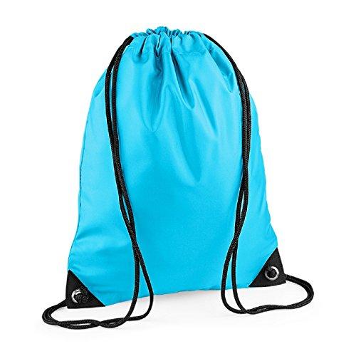 BagBase Unisex Retro Colours Zipped Pocket shoulder Strap bag Sky Blue