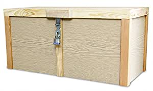 Lockable Wooden Porch Box, Parcel Box or Deck Box