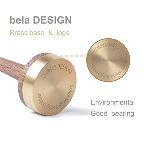belaDESIGN Wooden Ring Holder for Jewelry Walnut Wood Gift 1 Piece