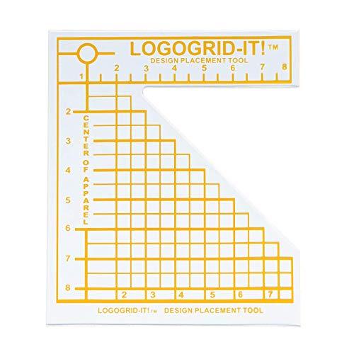 (LoveMyTSI - Logo Grid It Vinyl, Rhinestone, Sublimation Alignment Tool for Chest Designs)