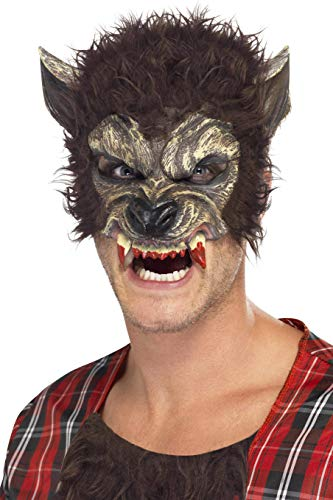 Smiffys Men's Werewolf Mask, Brown, One Size, -