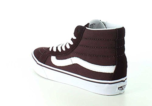 0b81f3eb2f ... Vans Womens SK8-Hi Slim Sneaker Iron Brown True White HDwMSdZHc ...