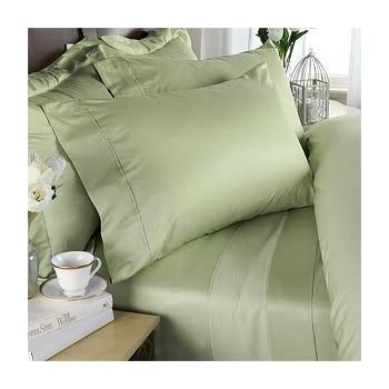 1200 Thread Count Olympic Queen 4pc Bed Sheet Set 100% Egyptian Cotton Deep  Pocket 1200